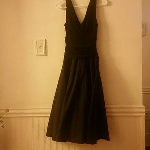 Elegant black midi dress